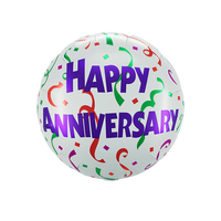 18 inch happy anniversary foil balloon