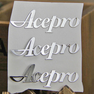 Custom thin silver, gold nickel 3d logo metal embossed sticker with 3M adhesive