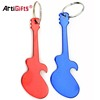 Multifunction key chain customized fancy guitar bottle opener key ring custom logo