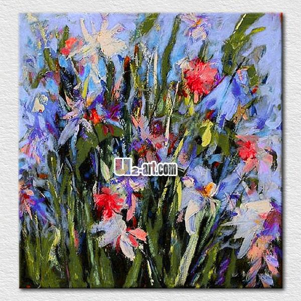 ingrosso decorazione della parete fiori astratti a dipingere per ...