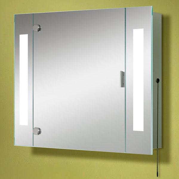 Armario con espejo de ba o fluorescente personalizable - Espejo bano luz integrada ...