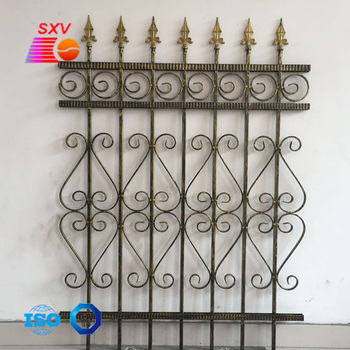 wrought iron forged spear point Use for gate, fence, handrail