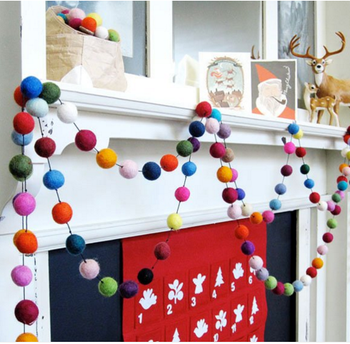 Christmas Ball Garland.High Quality Rainbow Felt Ball Garland For Christmas Tree Decoration Buy Wool Felt Ball Garland Christmas Ornament Ball Garland Christmas Garland