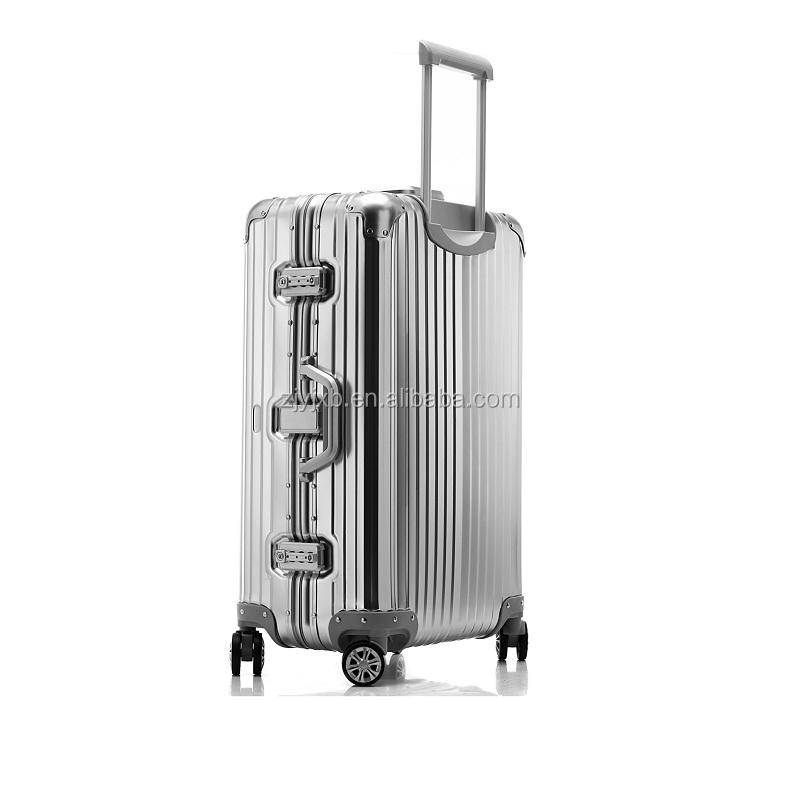 Noble anodized aluminum trolley luggages case suitcase