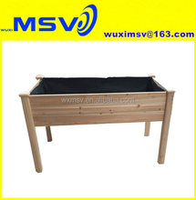 MSV 48 inch cedar raised garden bed