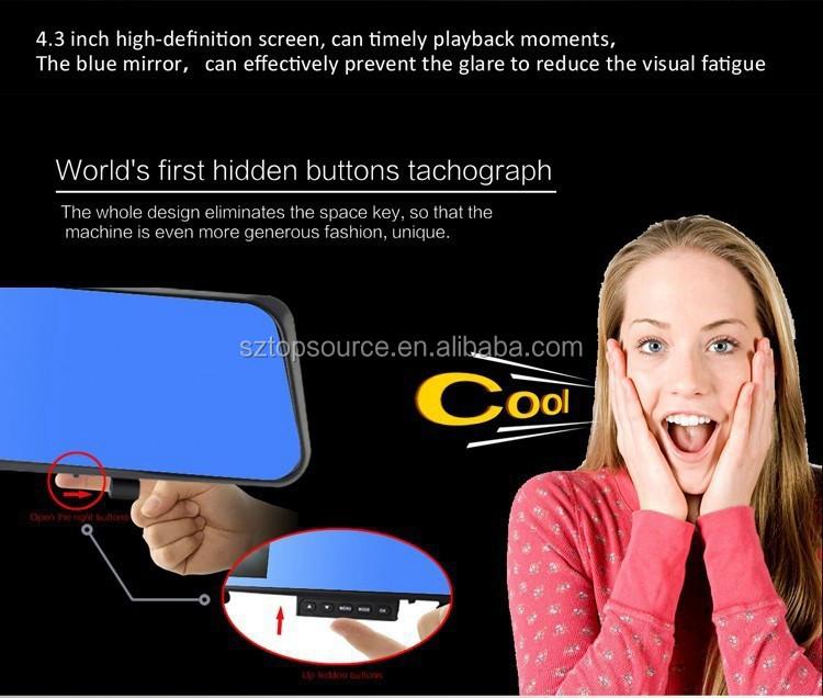 Perfect Car Mirror Camera Dual Lens Hd In Car Mirror Car Dvr Hot ...