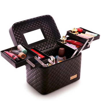 Professional Multilayer Storage Suitcase Tool Case Organizer Customized Makeup Beauty Cosmetic Box