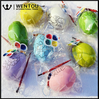 Wentou Party Supplies DIY Painting Plastic Easter Egg Gifts