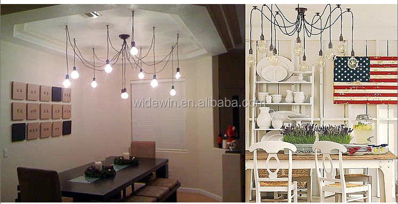 E27/e26 Edison Lampadario Vintage Classico Lampadario Sala Da Pranzo ...