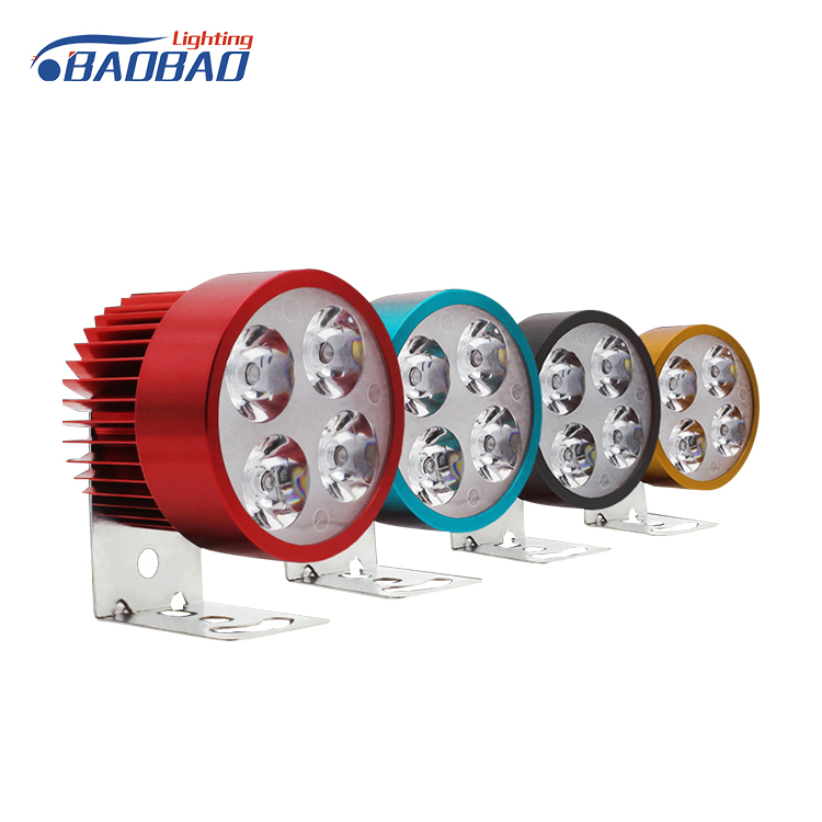 Motor Parts Accessories Super Bright Spotlights Bicycle Motorcycle LED Light 30W 6500K Led Headlamp Headlight For Autocycle