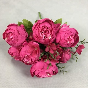 wholesale artificial fabric peony bouquet flowers