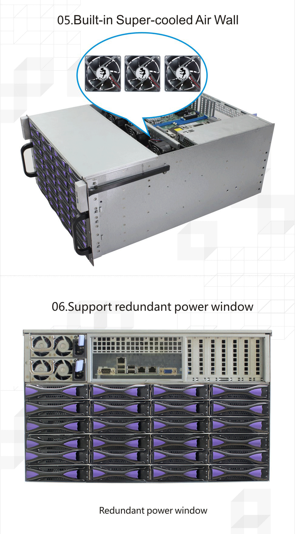 ED660H65-E Server Case with Expansion Card