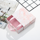 Recyclable Paper Box Gift Hot Sales Pink Marble Pattern Custom Size/ Logo/ Printing Customized Paper Packaging Box Beacutiful Gift Box