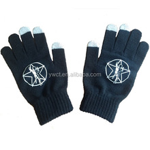 Wholesale Cheap Men Warm Winter Knit Personalized Glove with Custom Logo