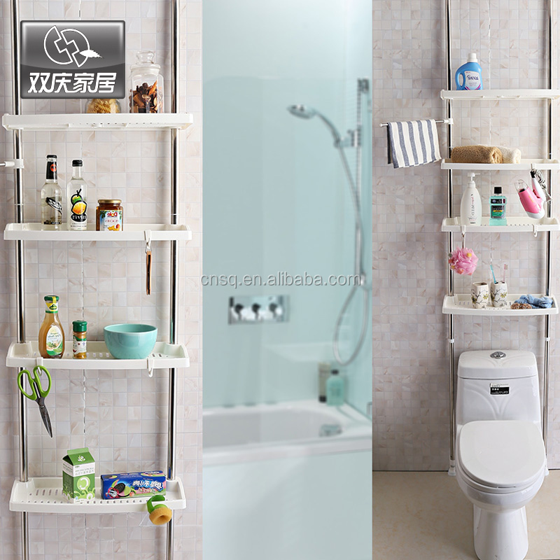 1031 Sq Bathroom 4-tier Bath Shelf Above The Toilet Corner Shelf ...