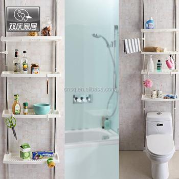 1031 Sq Bathroom 4-tier Bath Shelf Above The Toilet Corner Shelf ...