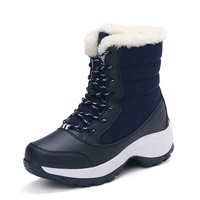 Snow boots 2019 Winter brand warm non-slip waterproof women boots mother shoes casual cotton winter autumn boots female