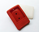 Soft Red or white square mp4 player case mini silicone mp3 bag with metal buckle custom protective rubber gift portable mp3 case