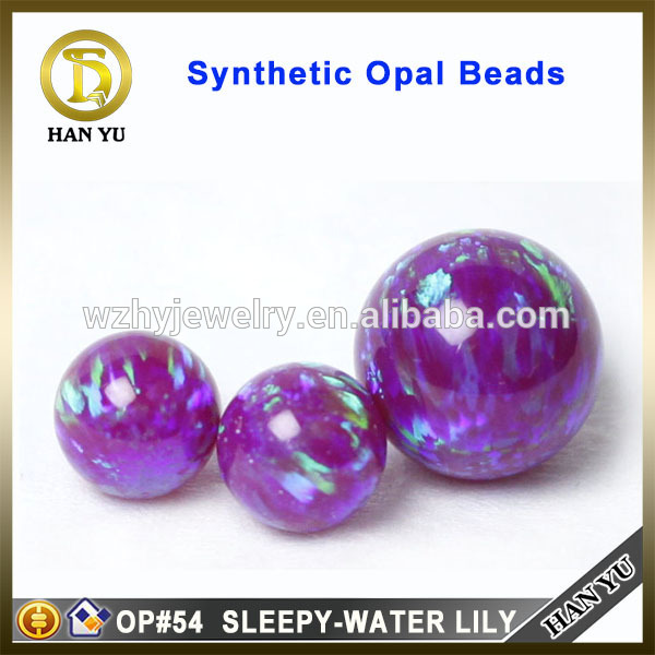 5mm OP#54 sleepy-water lily rough opal beads synthetic opal stone