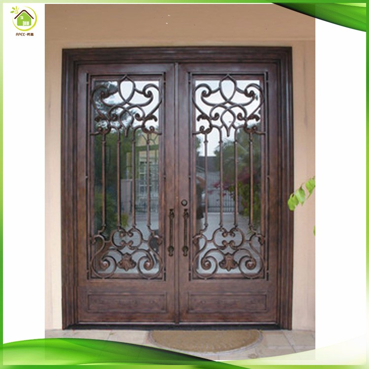 Lowes Glass Cheap Price Wrought Iron French Double Steel Security Doors -  Buy Steel Security Doors,Wrought Iron French Doors,Cheap Security Door