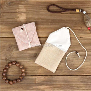 China High quality handmade cotton canvas bracelet packing box jewelry bag collectables - autograph boxes/bags