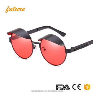 Retro Steampunk Women Round Sunglasses Spring Decoration Men Metal Frame Clear Lens Goggle Tinted Glasses J66251