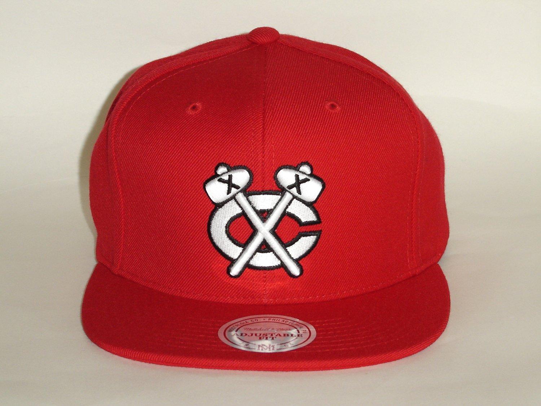 05d56ea8b0b Mitchell and Ness NHL Chicago BlackHawks Old School Logo Red Snapback Cap