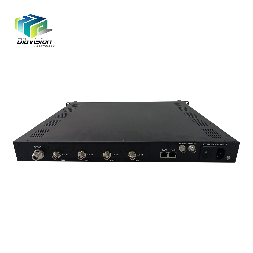 Professional tv station broadcasting equipment ASI/IP dvb s2 modulator with 10Mhz/24DVC over L band RF output