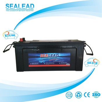 China high quality N120 maintenance free auto truck 12volt 120amp long life service battery