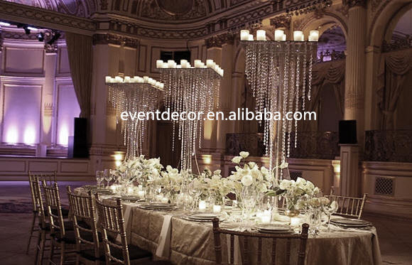 Large Fabulous Square Crystal Wedding Table Centerpiece Part 26