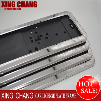 European Standard Stainless Steel License Plate Frame