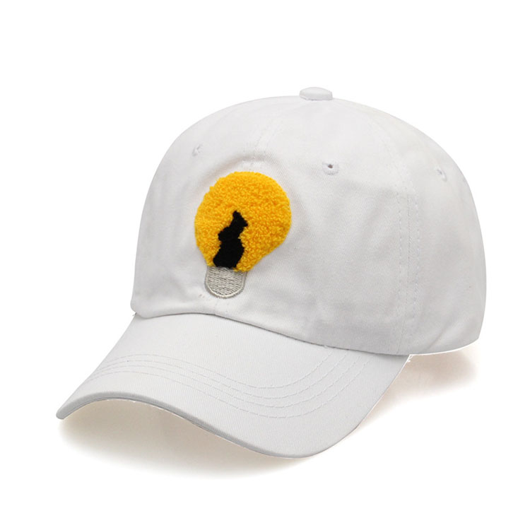 hot sale cotton white plain baseball cap starter hats custom cartoon embroidery cap