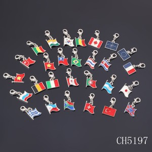 New product 2015 popular metal falg charm enamel country flag charms