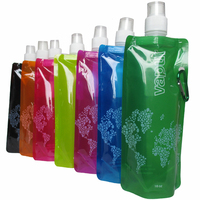 Plastic Foldable Sport Water Drinking Collapsible Bottle