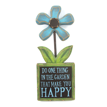 Wooden Flower Hanging Garden Signs Decorations Outdoor Wall Art For