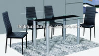 Heibei Bazhou Co.,LTD cheap tempered glass and MDF dining table