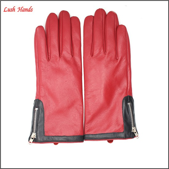 women fashion and Ladies latest party wear dresses for leather gloves with zipper