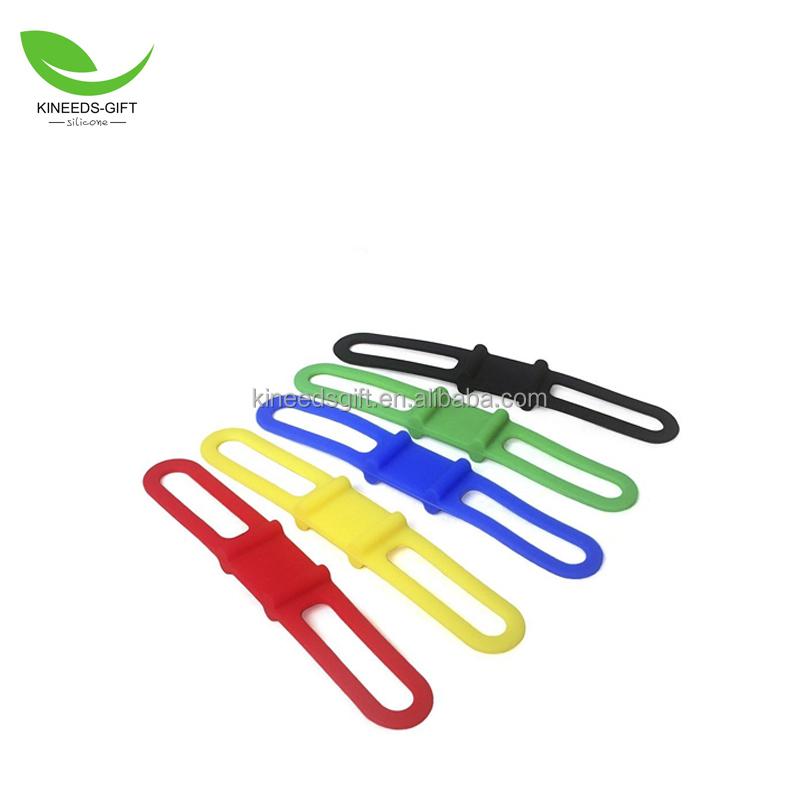 Bike Cycling Silicone Elastic Bandages Strap Holder for Light Phone Color Random