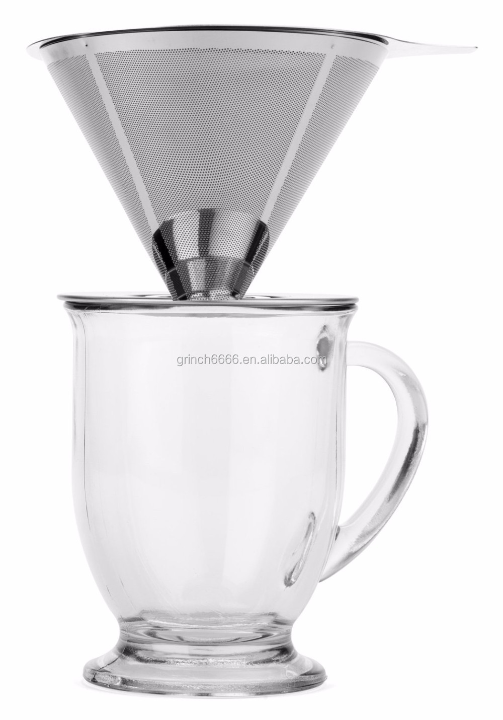 One Cup Coffee Maker With Reusable Filter : Paperless Pour Over Coffee Dripper - Stainless Steel Reusable Coffee Filter And Single Cup ...