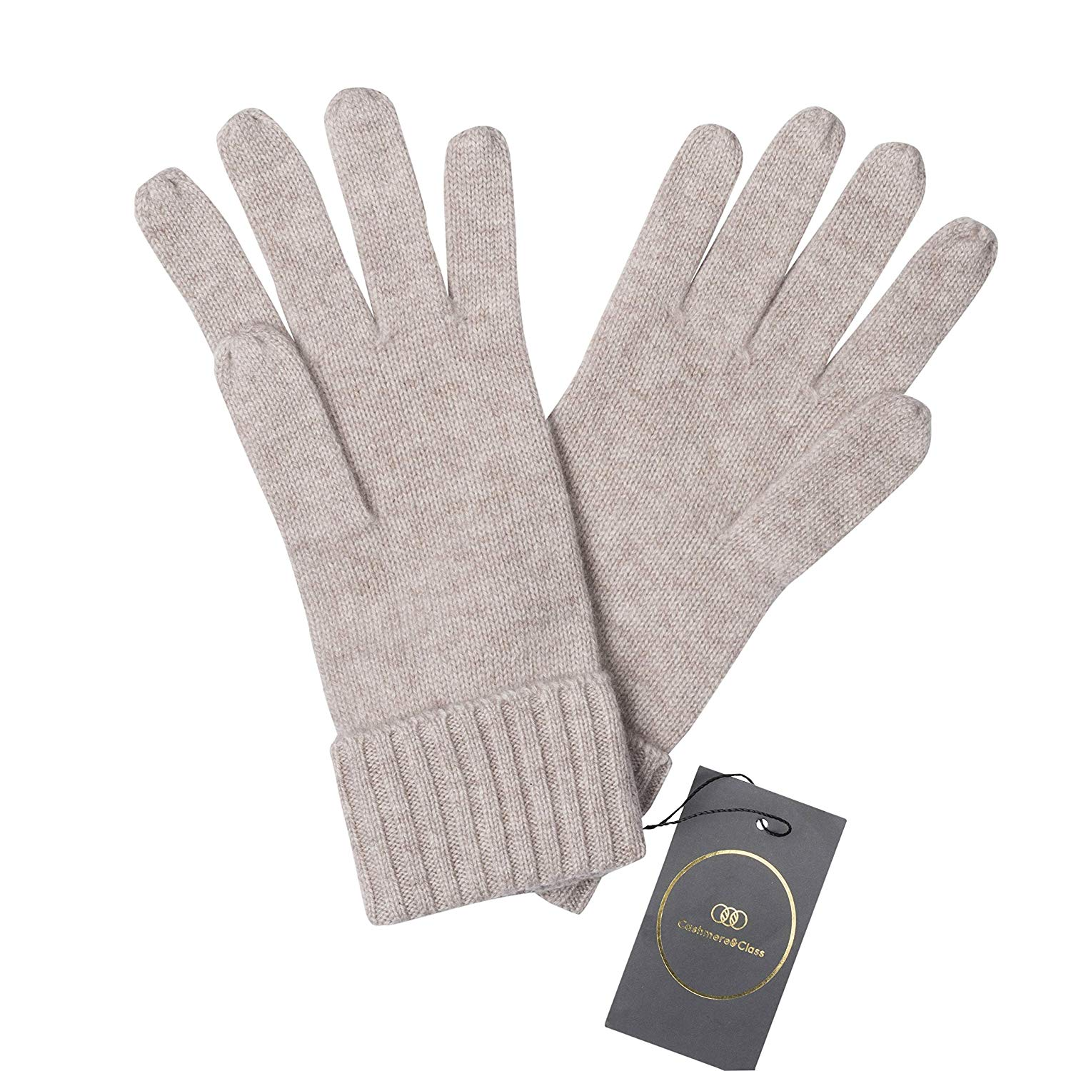 38c599d0bcf Get Quotations · Cashmere   Class Women s Cashmere Gloves w Ribbed Cuff  (Pair) Pure
