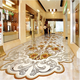 3D Classic European Style Gold Rose Reliefs Marble Murals Epoxy Floor Wallpaper