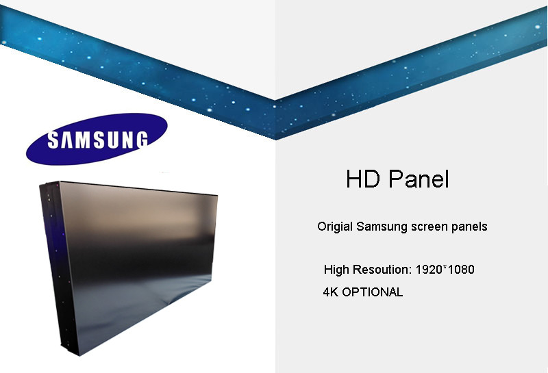 Intelligent drive 46 inch samsung panel lcd video wall 5.3mm