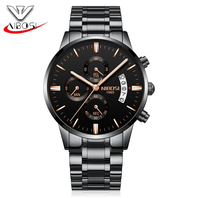 e2a1cab46ca8 Venta Al Por Mayor Nibosi Ver Dos Tono Oro Rosa Reloj De Cuarzo Acero  Inoxidable - Buy Reloj De Cuarzo