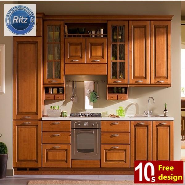 classique style maple bois cuisine meubles / bois massif armoires ... - Meuble Cuisine En Bois Massif