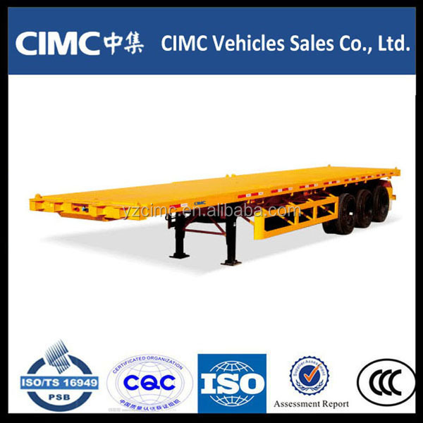 Cheap 3 axle air bag suspension flat bed semi trailers with ISO