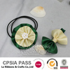 green and ivory ruff rose flower bow wholesale hair accessories
