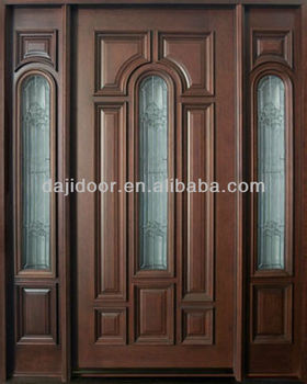 Glass Inserts Solid Merbau Wooden Doors With Side Lites Dj