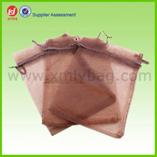 Small Brown Organza Packaging Wedding Candy Gift Bag