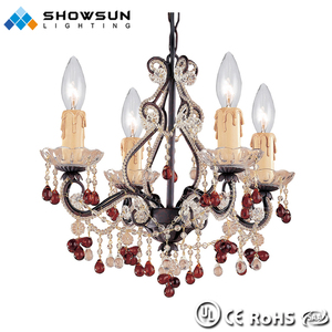 Black popular wrought iron chandelier for european market