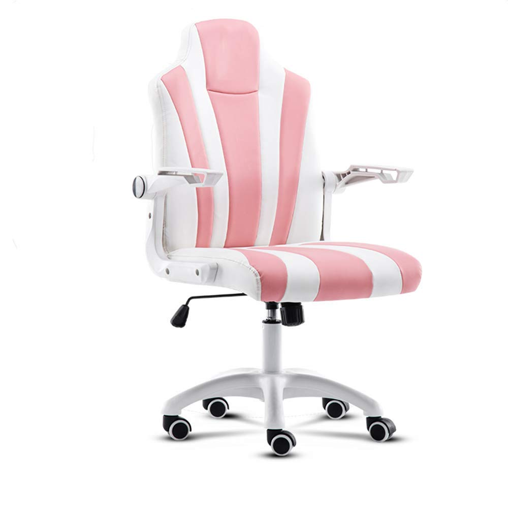 QFFL jiaozhengyi Swivel Chair, Student Computer Chair Lifting and Rotating Office Lounge Chair Boss Chair Reception Chair (Color : D)